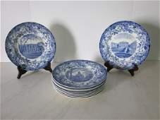 Set of Wedgwood Harvard Plates