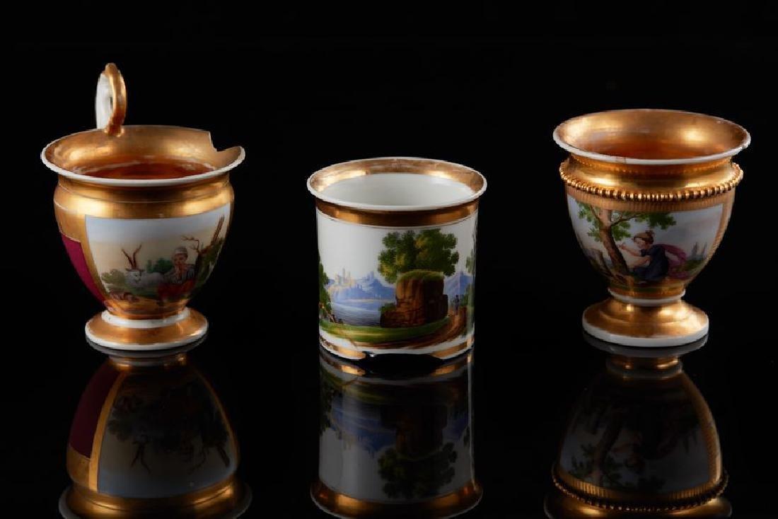 Two cups Porcelain, gilding Imperial Porcelain Factory