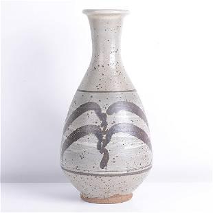 Bernard Leach (British, 1887-1979) Tall Bottle with