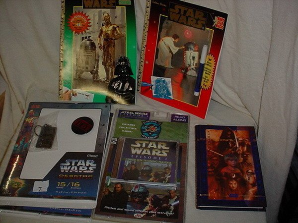 7: 3 STAR WARS STATIONERY ITEMS; REVENGE OF THE JEDI BA