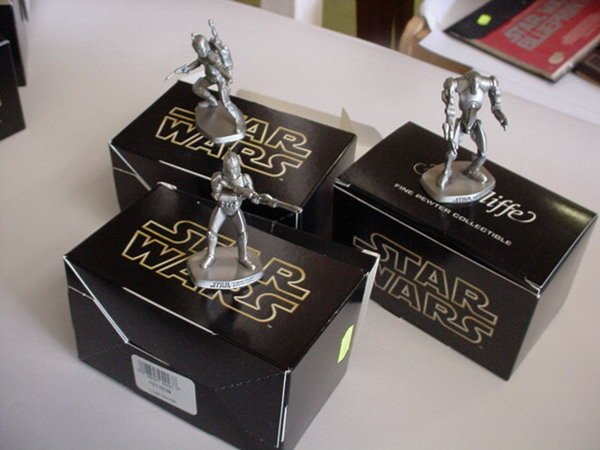 11: 3 STAR WARS RAWCLIFFE FINE PEWTER COLLECTIBLE FIGUR