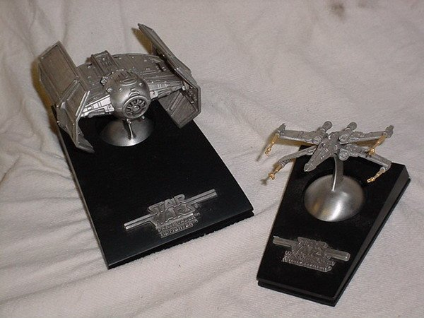 15: 2 LTD EDT PEWTER STARSHIPS BY RAWCLIFFE FINE PEWTER