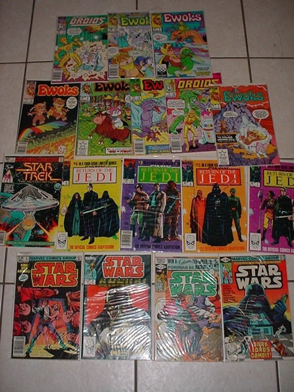 113: STAR WARS MARVEL COMICS, INCL. EWOKS # 1, 2, 3, 7,