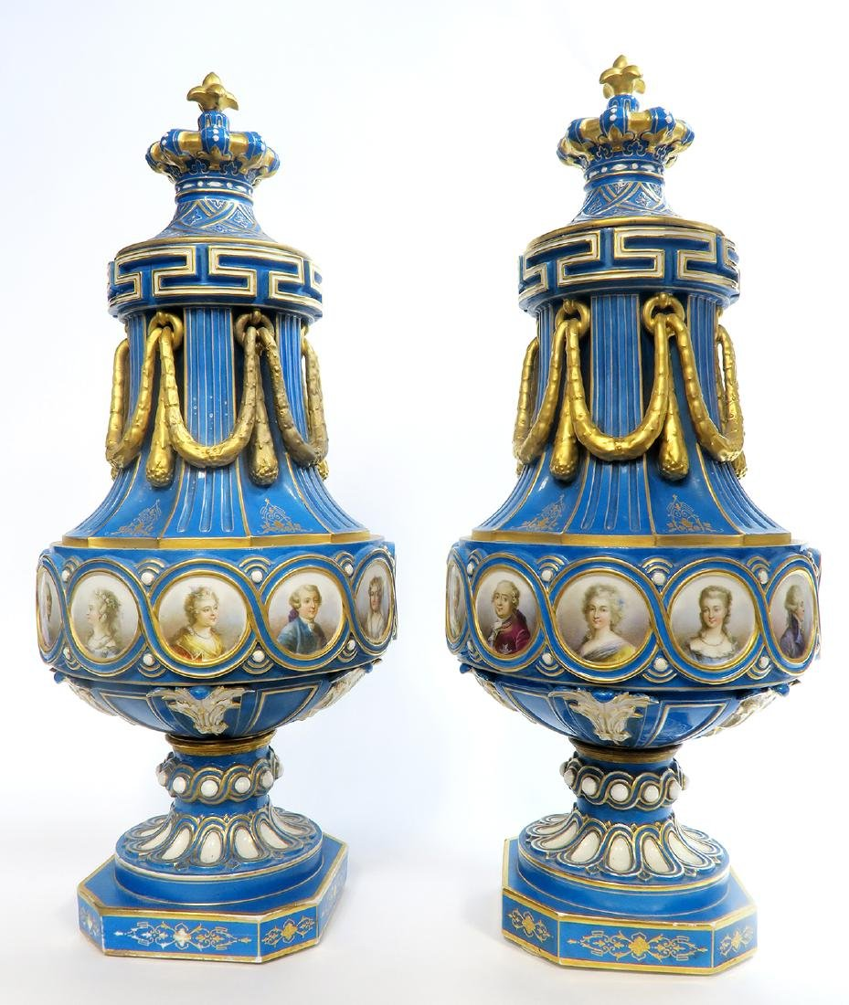A Pair of Monumental Sevres PortraitVases - 4