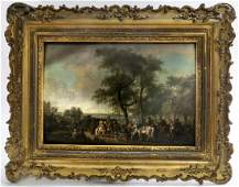 Important French Oil Painting By J. F. Swebach, 18th C.