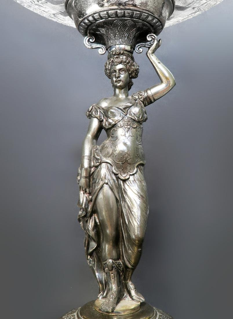 A Large 19th C. Silver-plated WMF Figural Centerpiece - 5
