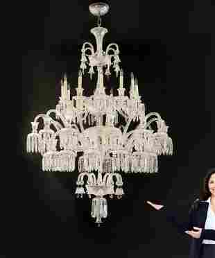 Palatial Baccarat Style 36 light Crystal Chandlier