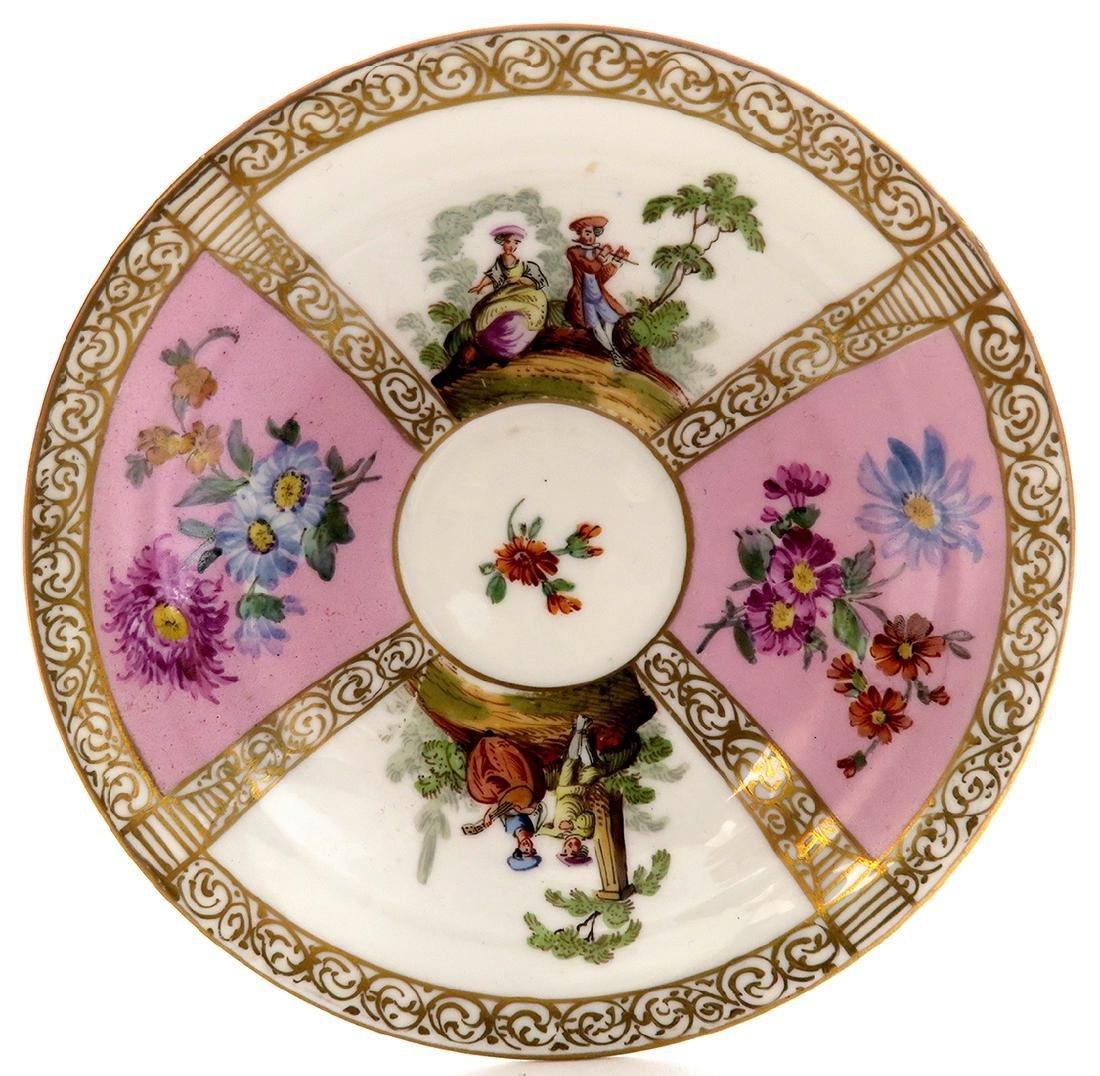 19th C. Meissen Cup and Saucer - 3