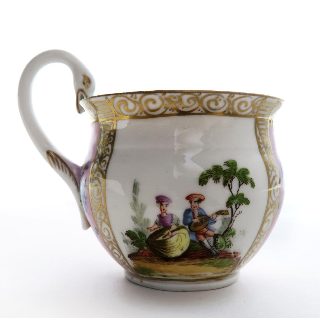19th C. Meissen Cup and Saucer - 4