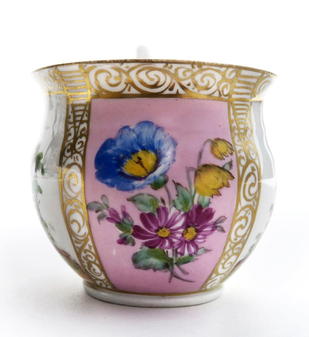 19th C. Meissen Cup and Saucer - 5