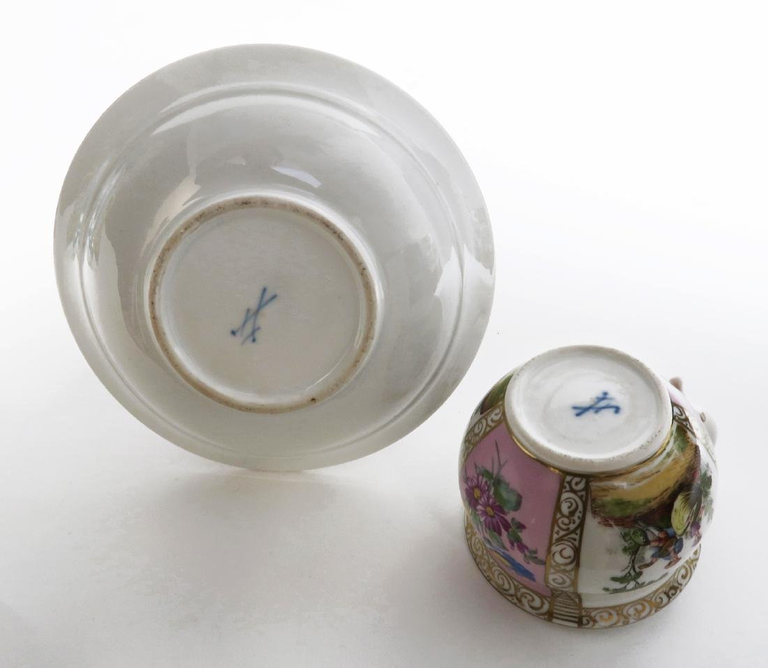 19th C. Meissen Cup and Saucer - 6