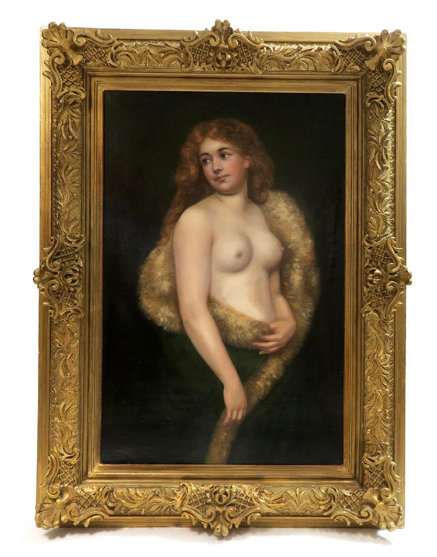 Delphin Enjolras Large Oil on Canvas Semi Nude Painting - 2