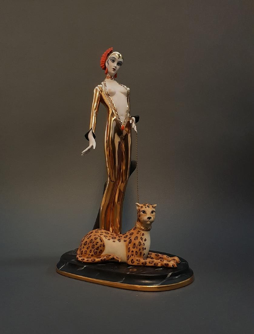 "14"" Ltd Edition Ester Bassano Figurine Designed By ERTE"
