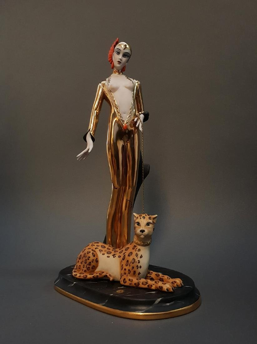 "14"" Ltd Edition Ester Bassano Figurine Designed By ERTE - 3"