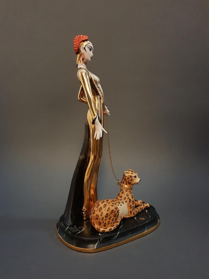 "14"" Ltd Edition Ester Bassano Figurine Designed By ERTE - 4"