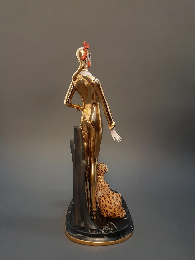 "14"" Ltd Edition Ester Bassano Figurine Designed By ERTE - 5"