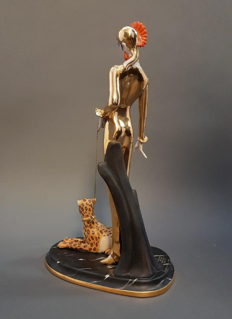 "14"" Ltd Edition Ester Bassano Figurine Designed By ERTE - 6"