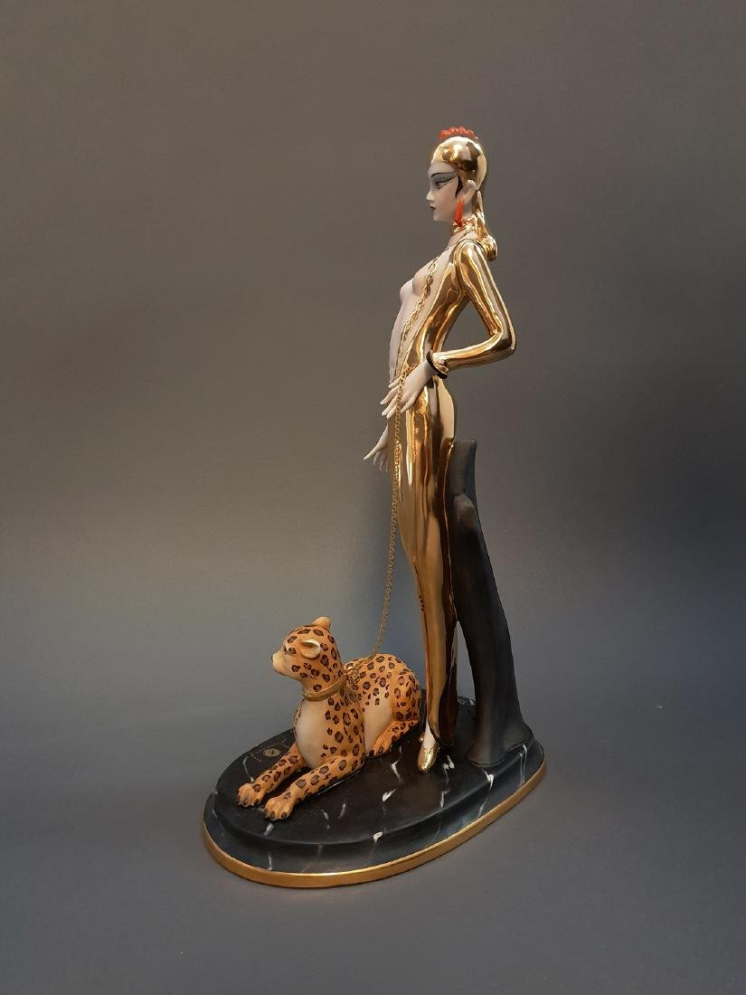 "14"" Ltd Edition Ester Bassano Figurine Designed By ERTE - 7"