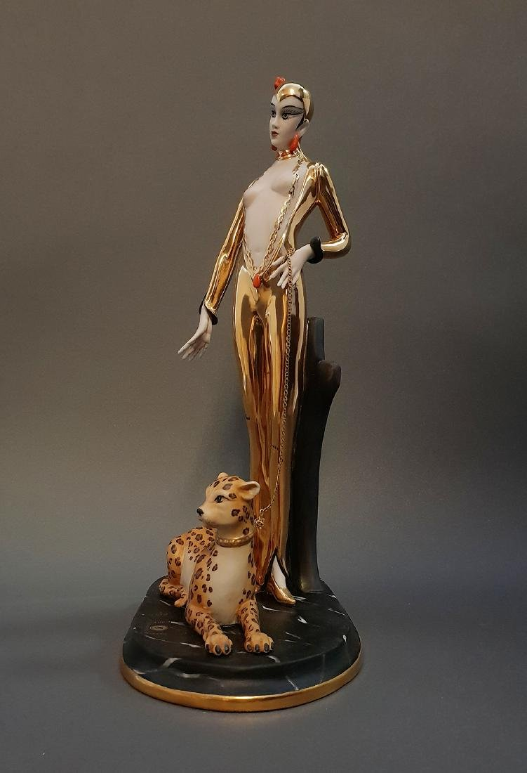 "14"" Ltd Edition Ester Bassano Figurine Designed By ERTE - 8"