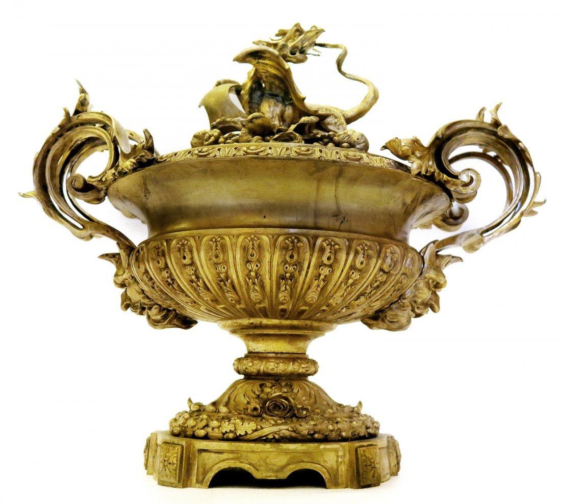 Large 19th C. French Japonisme Bronze Centerpiece - 2