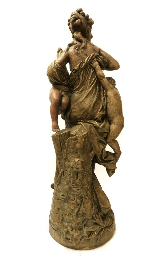 Large Terra-Cotta Group, BY Carrier Belleuse. 19th C. - 3