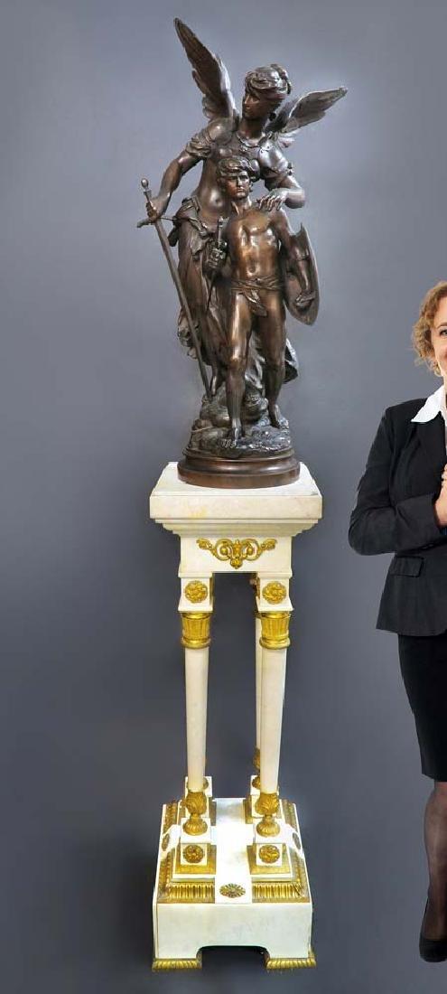 "A Large Bronze Sculpture ""Victoire"" By Mathurin Moreau"