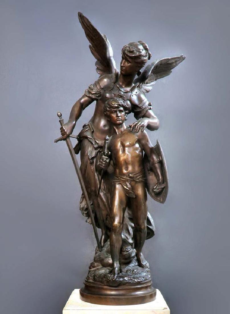 "A Large Bronze Sculpture ""Victoire"" By Mathurin Moreau - 3"
