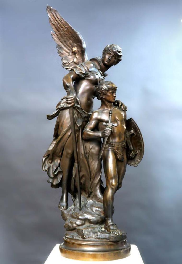 "A Large Bronze Sculpture ""Victoire"" By Mathurin Moreau - 4"