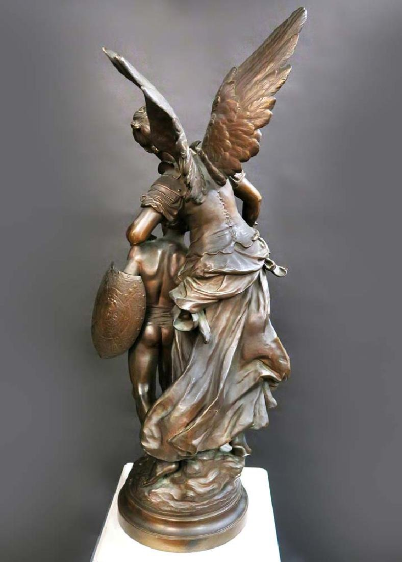 "A Large Bronze Sculpture ""Victoire"" By Mathurin Moreau - 6"