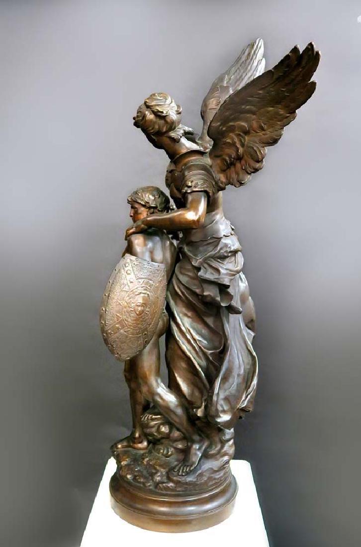 "A Large Bronze Sculpture ""Victoire"" By Mathurin Moreau - 7"