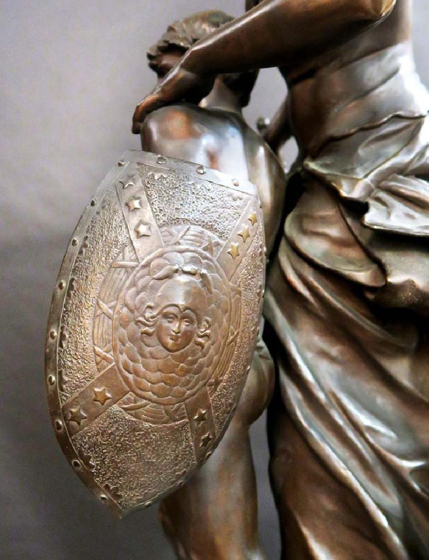 "A Large Bronze Sculpture ""Victoire"" By Mathurin Moreau - 8"