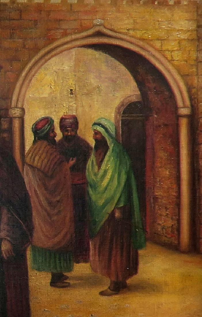 Orientalist Signed Oil On Canvas Painting Nude Harem - 6