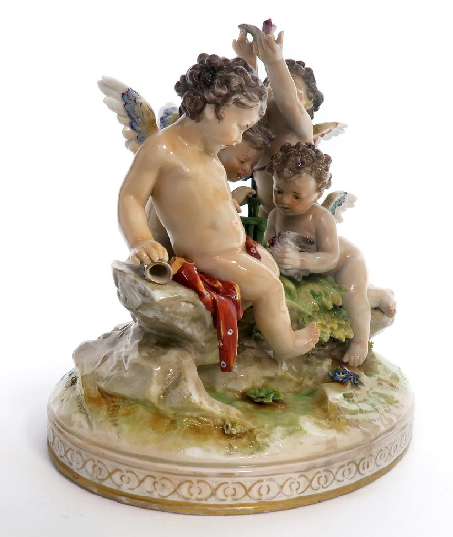 A Large 19th C. Meissen Figural Group - 2