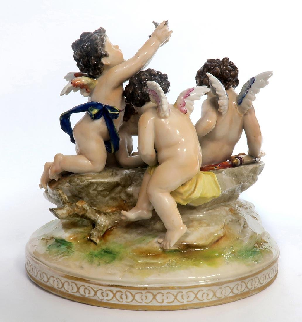 A Large 19th C. Meissen Figural Group - 3