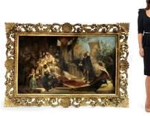 Monumental 19th C. Queen Elizabeth/Shakespeare Painting