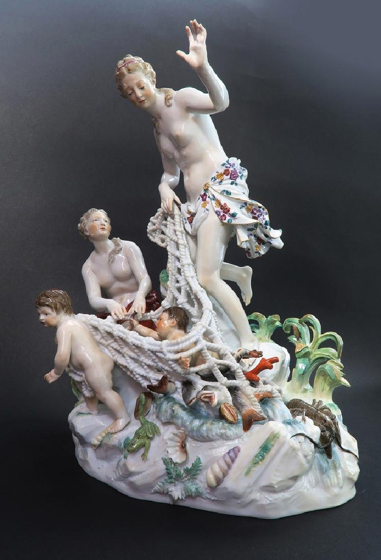 Very Large Meissen Figural Group, 19th C. - 3