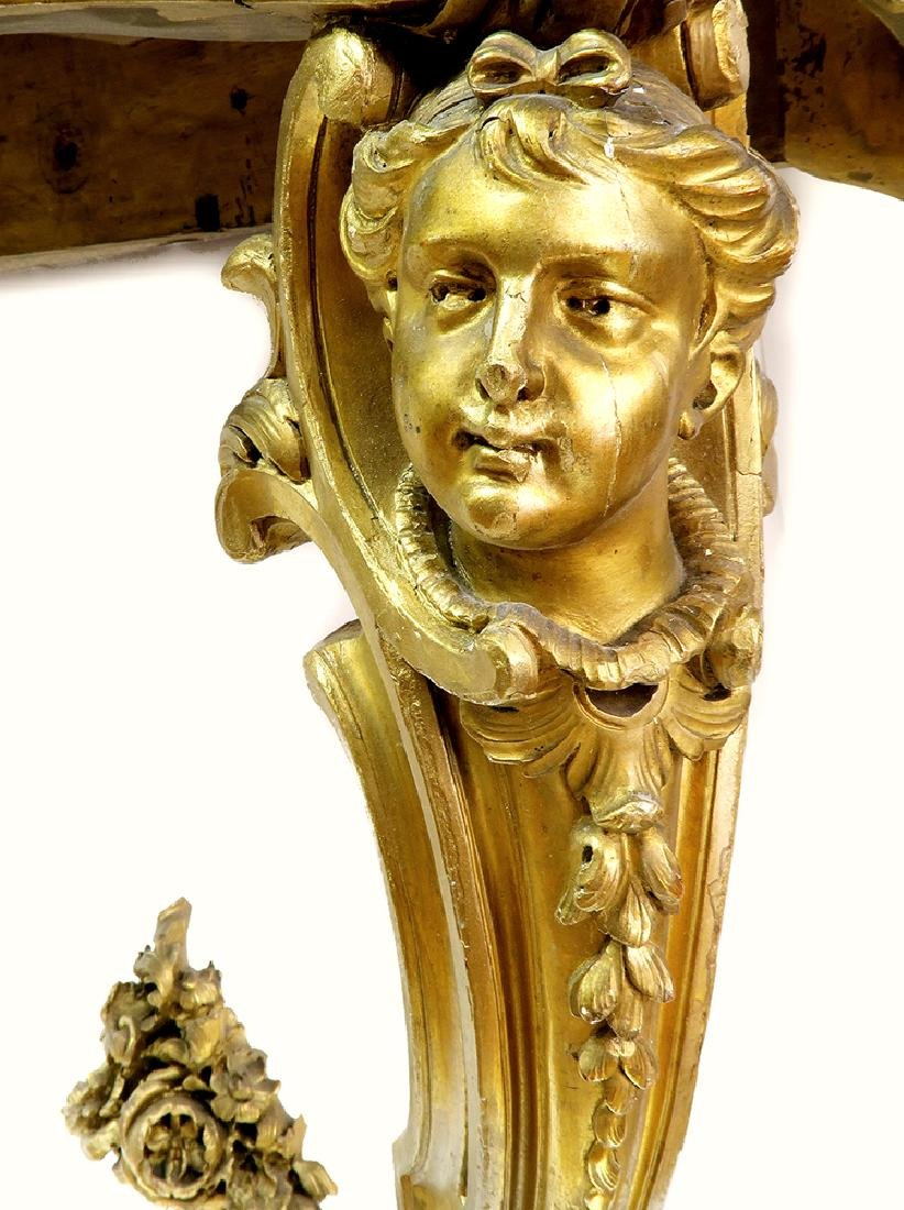 A Fabulous 19th C. French Figural Gilt Console Table - 3