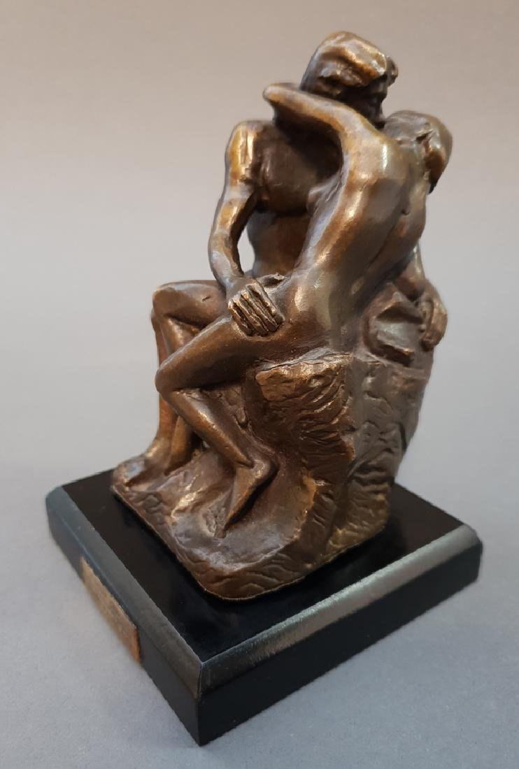 "After AUGUSTE RODIN ""The Kiss"" Bronze Statue, Vintage - 2"
