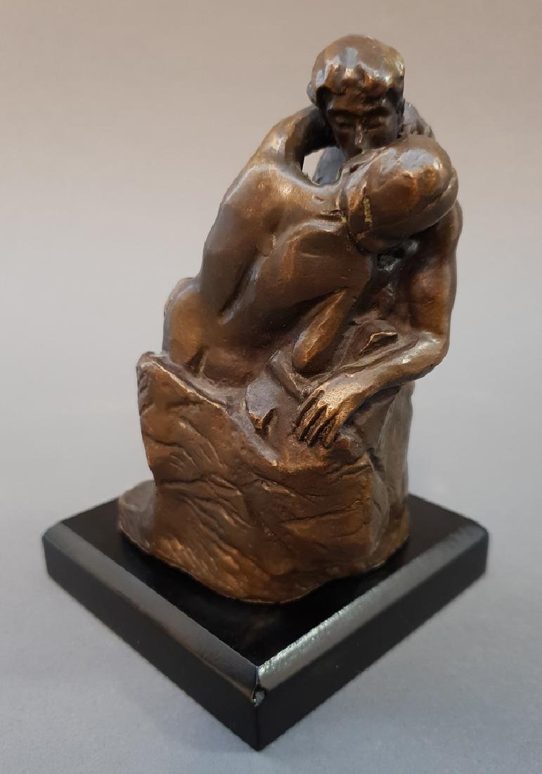 "After AUGUSTE RODIN ""The Kiss"" Bronze Statue, Vintage - 4"