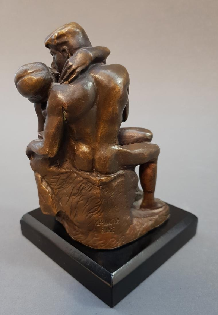 "After AUGUSTE RODIN ""The Kiss"" Bronze Statue, Vintage - 6"