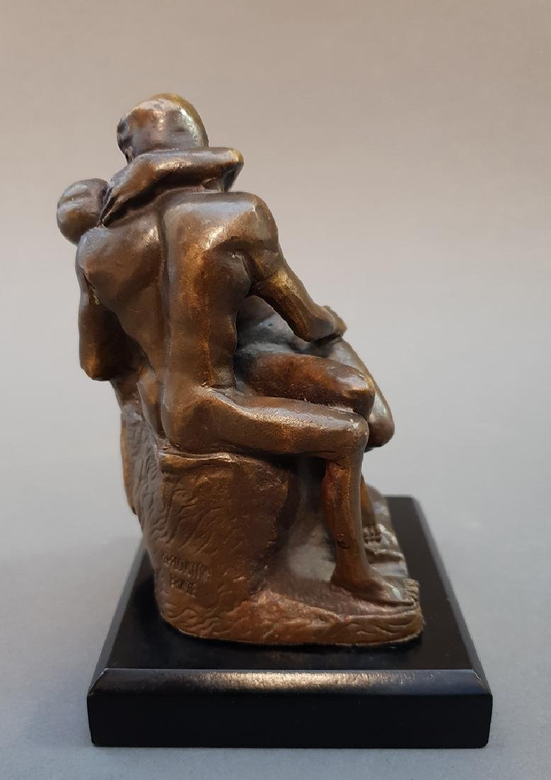"After AUGUSTE RODIN ""The Kiss"" Bronze Statue, Vintage - 7"