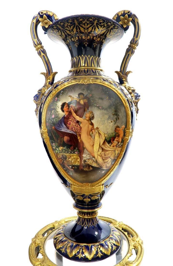 19th C. Monumental Royal Vienna Style Vase - 2