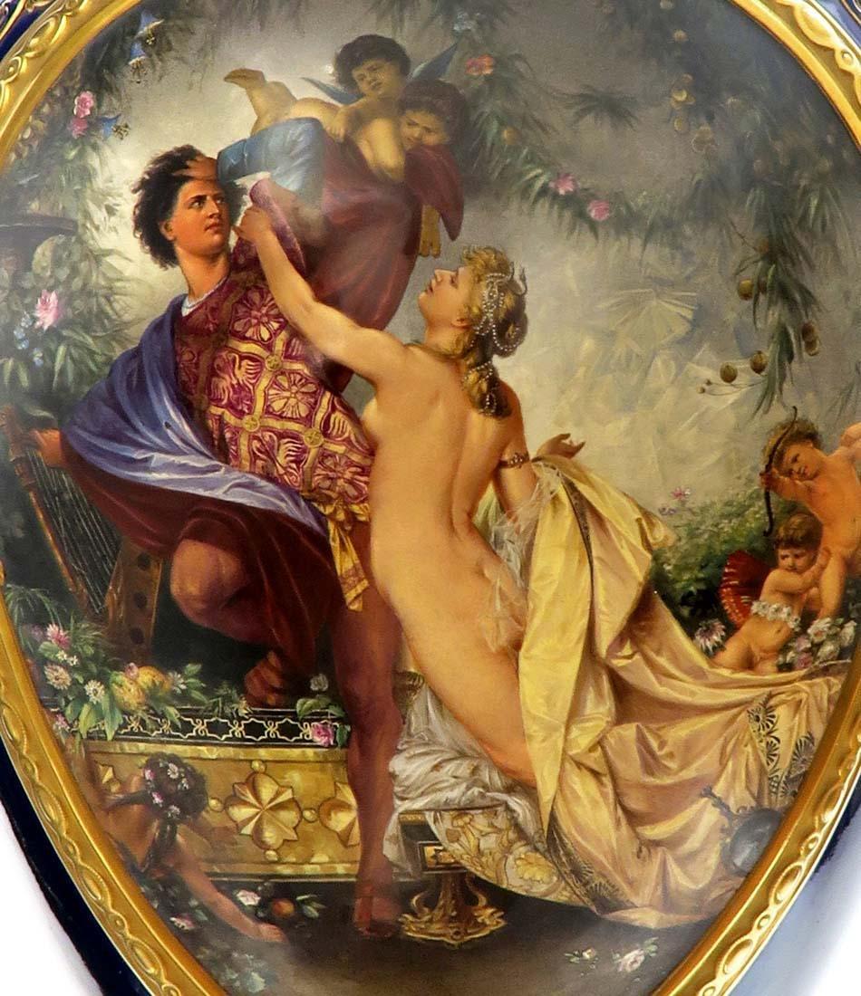 19th C. Monumental Royal Vienna Style Vase - 3