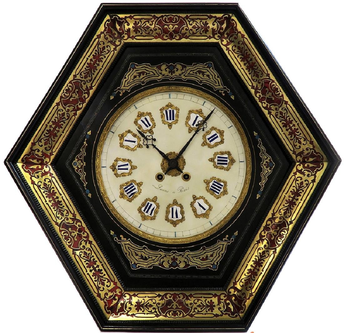 19th C. French Boulle Wall Clock - 2