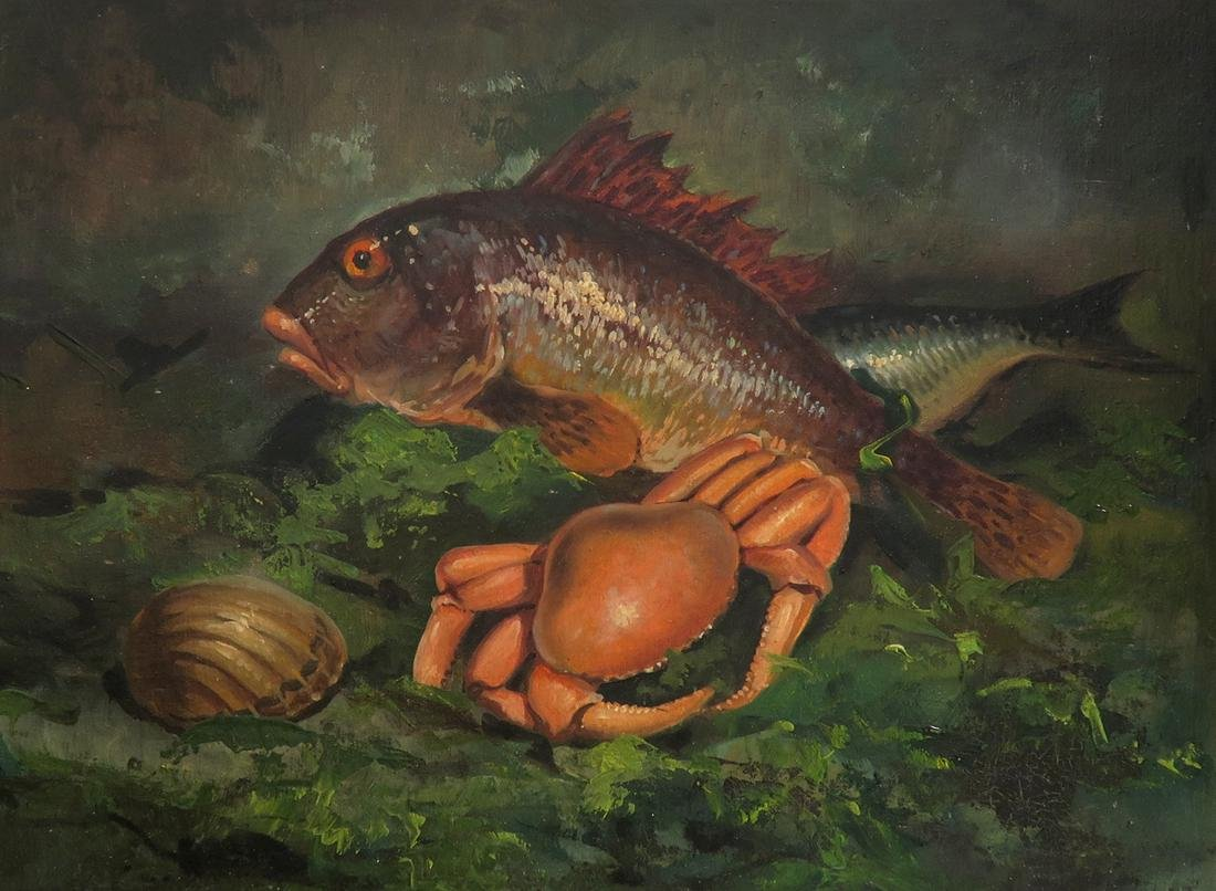 Oil on Canvas Seafood Painting - 2