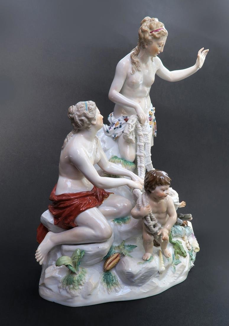 Very Large Meissen Figural Group, 19th C. - 2