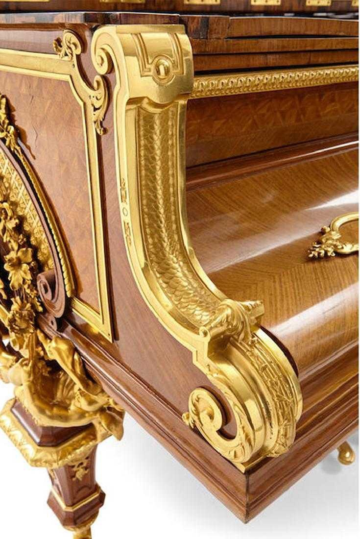 AN EXCEPTIONAL GILT BRONZE GRAND PIANO BY ERARD - 10