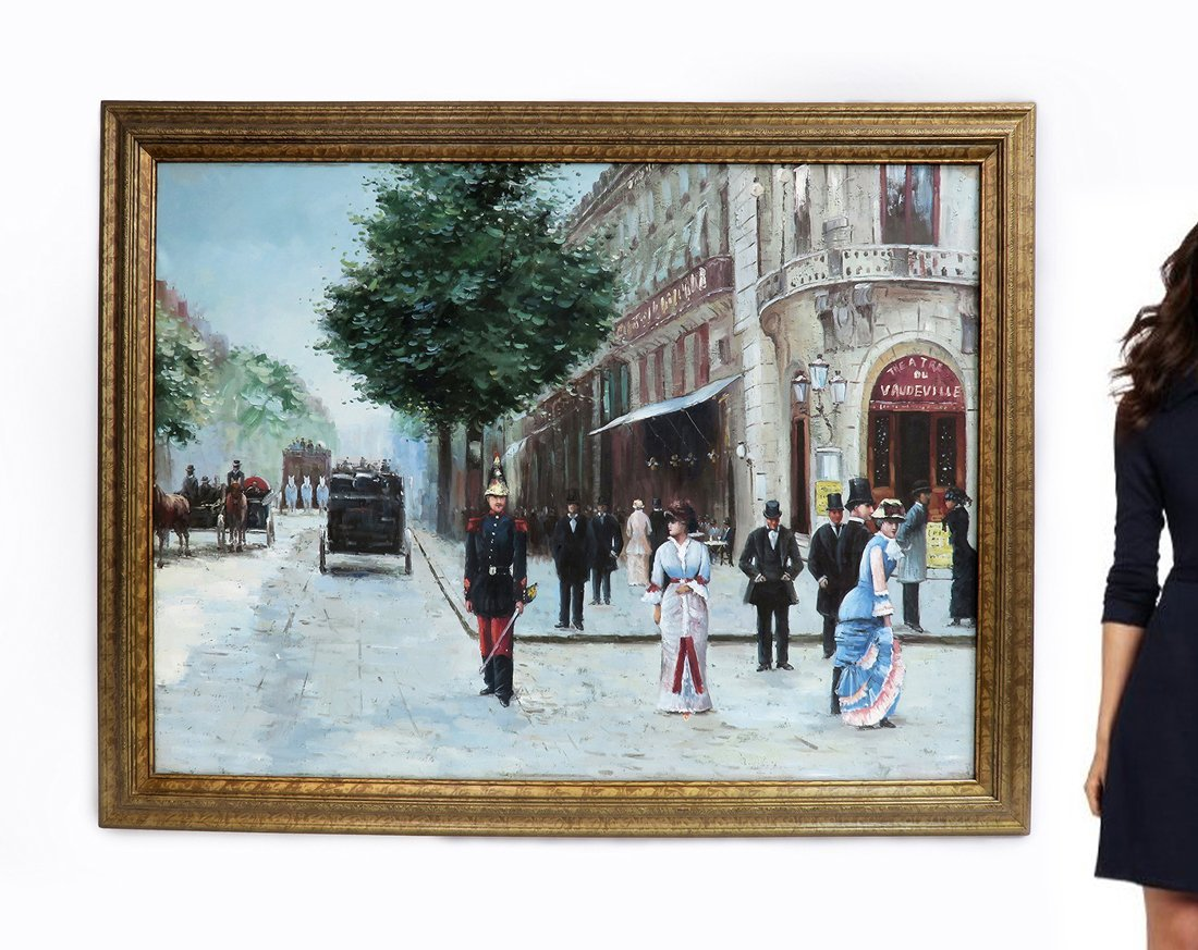 A Large Oil on Canvas After Jean Beraud
