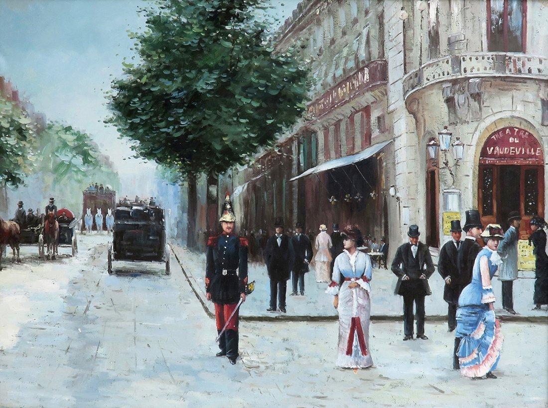 A Large Oil on Canvas After Jean Beraud - 2