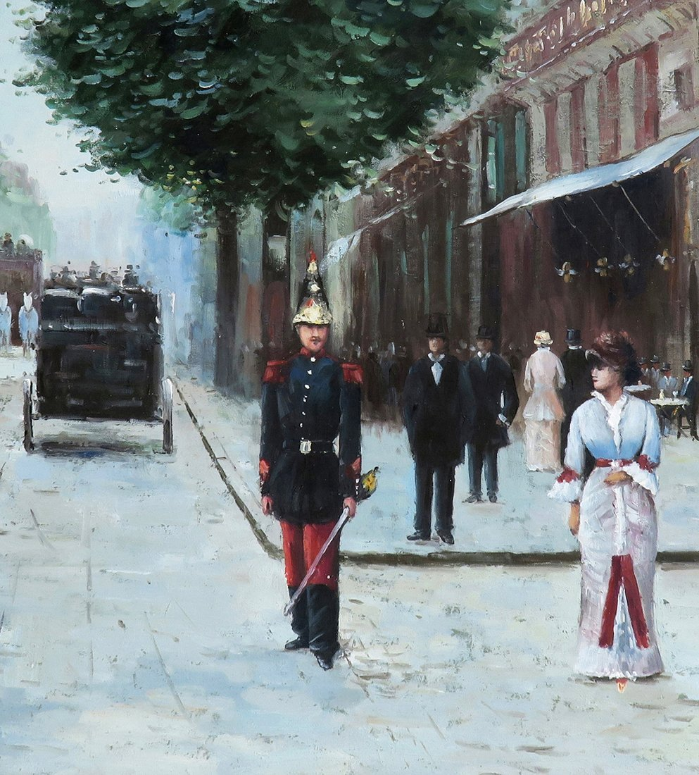 A Large Oil on Canvas After Jean Beraud - 4